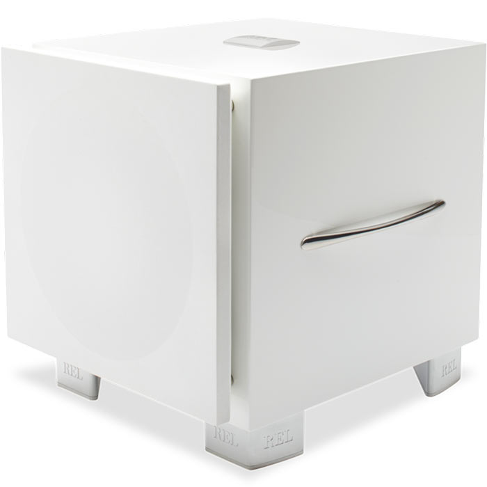 REL Serie S subwoofer (in white)